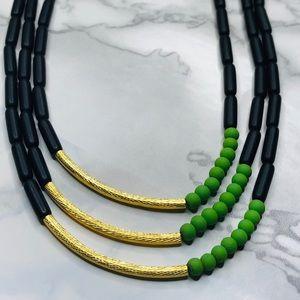 NWOT David Aubrey 3 Strand Necklace